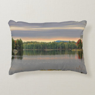 Surreal Early Morning Millinocket Lake Accent Pillow