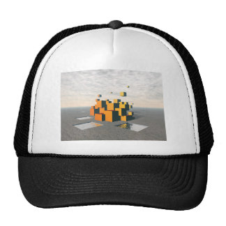 Surreal Floating Cubes Trucker Hat