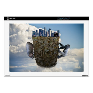 Surreal floating Los Angeles/animals computer case Skins For Laptops