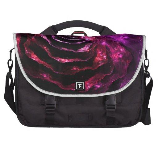 Surreal floral futuristic indigo violet  pattern laptop bag