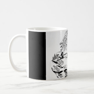Surreal Florence Welch - Black and White Classic White Coffee Mug