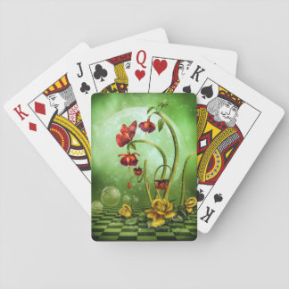 Surreal Flower Fantasy Playing Cards