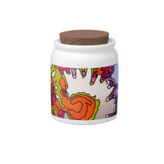 Surreal Flowers,orange Candy Jars