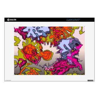 "Surreal Flowers,orange 15"" Laptop Skin"