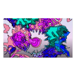 surreal flowers,pink business card template
