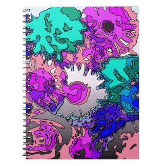 Surreal Flowers,pink Notebook
