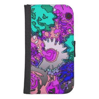 surreal flowers,pink phone wallet case