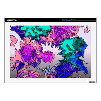 "Surreal Flowers,pink 17"" Laptop Skin"
