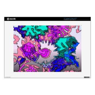 "Surreal Flowers,pink 15"" Laptop Skin"