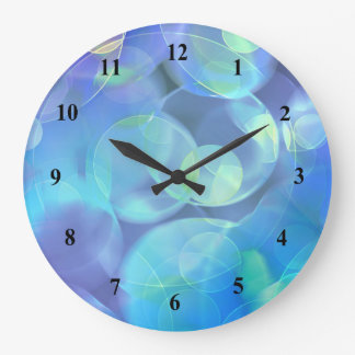 Surreal Fractal Abstract Design Large Clock