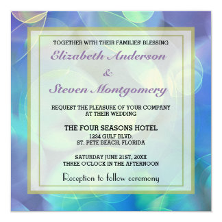 Surreal Fractal Abstract Design Wedding 5.25x5.25 Square Paper Invitation Card