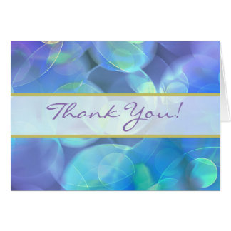 Surreal Fractal Abstract Design Wedding Thank You Card