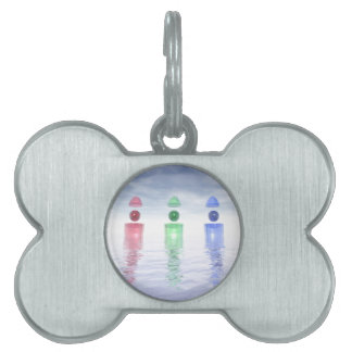 Surreal Glass Structures Pet Tags