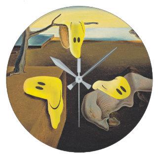 Surreal Happy Faces Clock