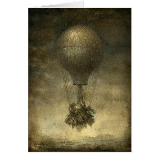Surreal Hot Air Balloon Greeting Card