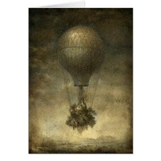 Surreal Hot Air Balloon Note Card