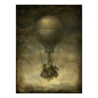 Surreal Hot Air Balloon Poster