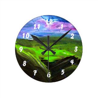 Surreal Hyperrealism Landscape CricketDiane Art Round Clock