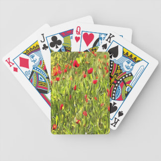 Surreal Hypnotic Poppies Bicycle Playing Cards