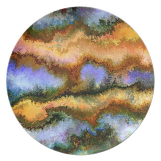 Surreal landscape by rafi talby melamine plate
