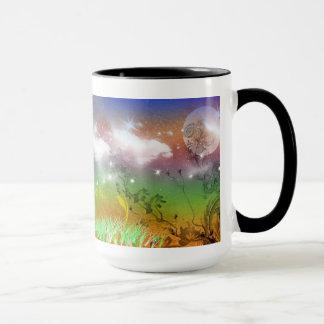 Surreal landscape mug