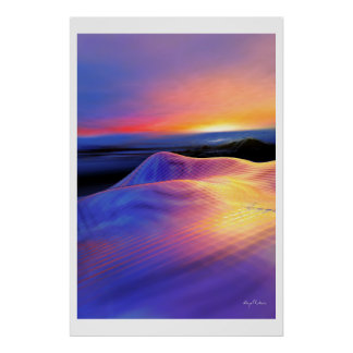 Surreal landscape poster