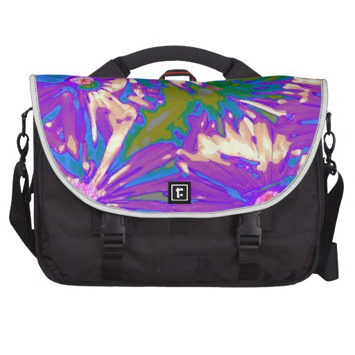 Surreal lavender Flowers Commuter Bags