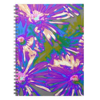 Surreal lavender Flowers Spiral Notebook