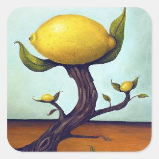 Surreal Lemon Tree Square Sticker