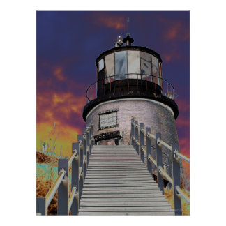 Surreal Lighthouse Poster