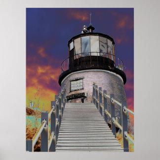 Surreal Lighthouse Print