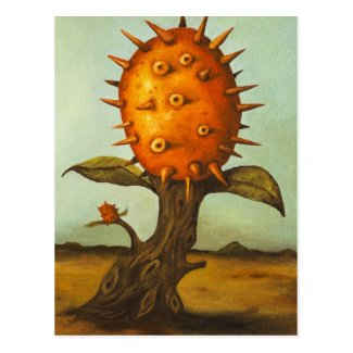 Surreal Melon Tree Postcard