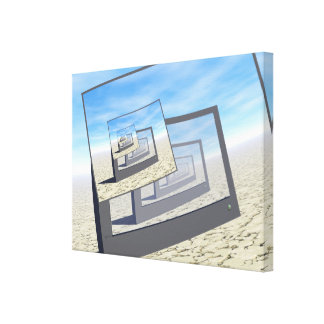Surreal Monitors Infinite Loop Canvas Print