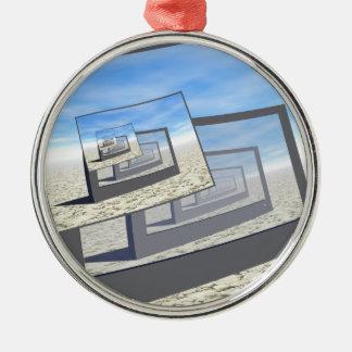 Surreal Monitors Infinite Loop Metal Ornament