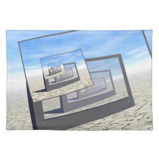 Surreal Monitors Infinite Loop Cloth Place Mat
