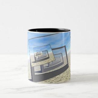 Surreal Monitors Infinite Loop Two-Tone Coffee Mug