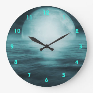 Surreal Moonlight Wall Clock