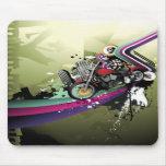 Surreal Motorbike, Skulls & City Mouse Pad