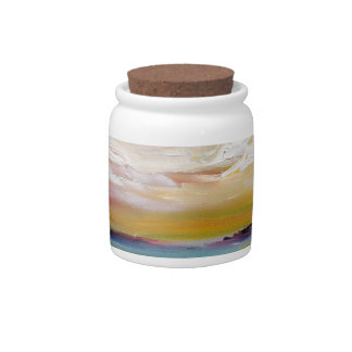 Surreal Ocean Waves and Clouds Candy Dish