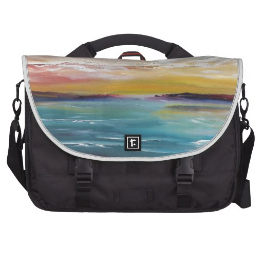 Surreal Ocean Waves and Clouds Laptop Commuter Bag