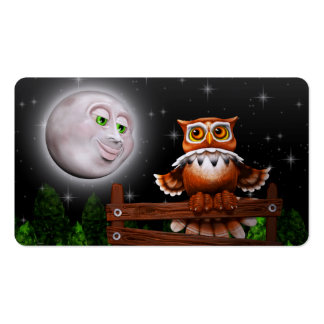 Surreal Owl and Moon Business_cards Business Cards
