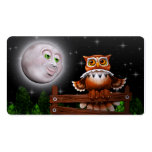 Surreal Owl and Moon Business_cards Business Card