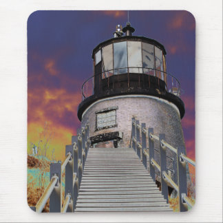 Surreal Owls Head Lighthouse Mouse Pad