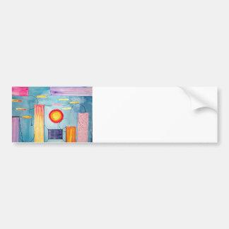 Surreal Painting original art Bumper Sticker