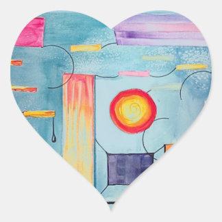Surreal Painting original art Heart Sticker