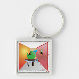 Surreal Party - Colorful, Weird and Artistic Keychain