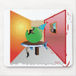 Surreal Party - Colorful, Weird and Artistic Mouse Pad
