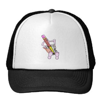 Surreal Pencil Sharpener With Arms and Legs Trucker Hat
