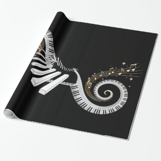 Surreal Piano Keyboard Wrapping Paper