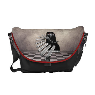 Surreal Piano   Rickshaw Messenger Commuter Bag